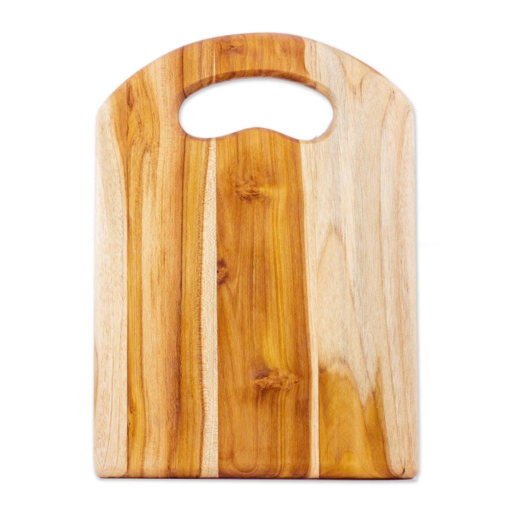Handmade Wood Cutting Board , 'Chef's Delight' UNICEF