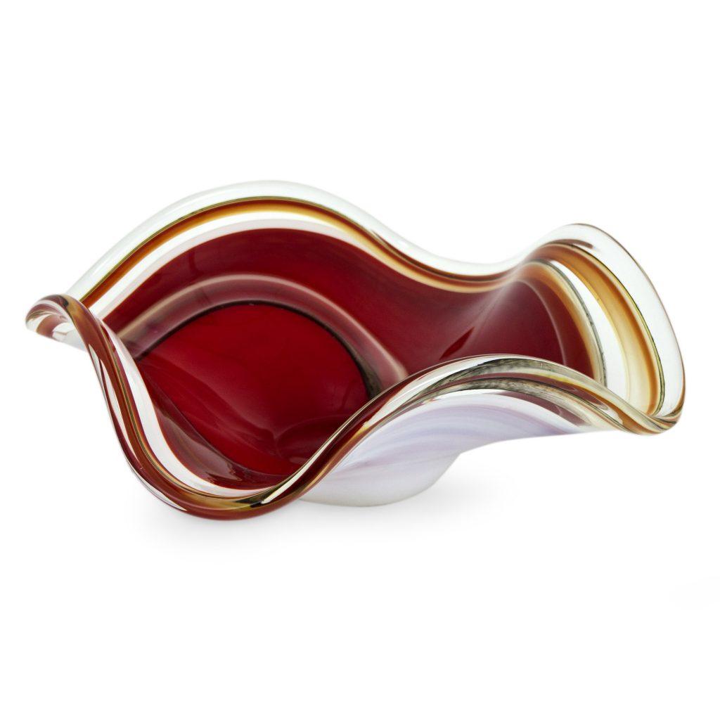 Brazilian Murano Centerpiece Bowl, 'Lava Flow' UNICEF Art