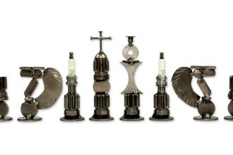 The recycled chess men of Armando Ramirez