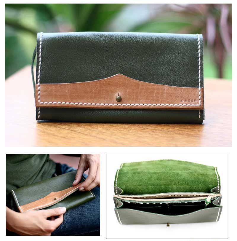 Handcrafted Indonesian Fine Leather Purse, 'Lovely Leather '