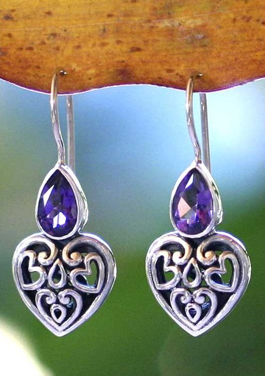 transcendent love sterling silver and amethyst earrings - Finding the Right Gift for Mom