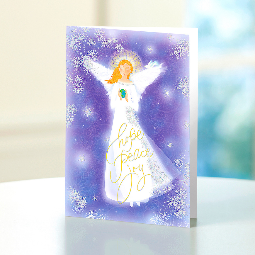 The Beautiful Angel And Message Shown On The Card Below Should Fit The Bill The Lovely Lavender Hue Surrounding Her Will Make This Card Stand Out From