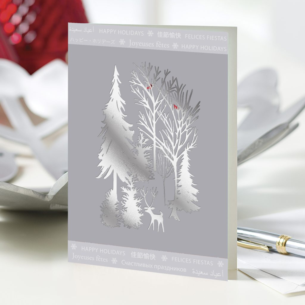 UNICEF Holiday Cards Boxed Set Silver Winter Scene Unique Christmas Cards