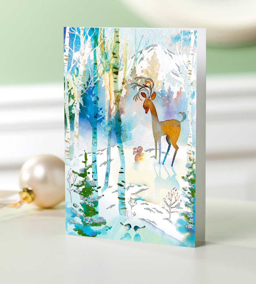 UNICEF Holiday Cards Boxed Set Watercolor Nature Unique Christmas Cards