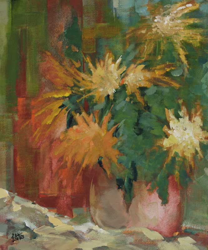 Still Life Expressionist Painting, 'Vase of Flowers' Selecting the Perfect Painting for your Home