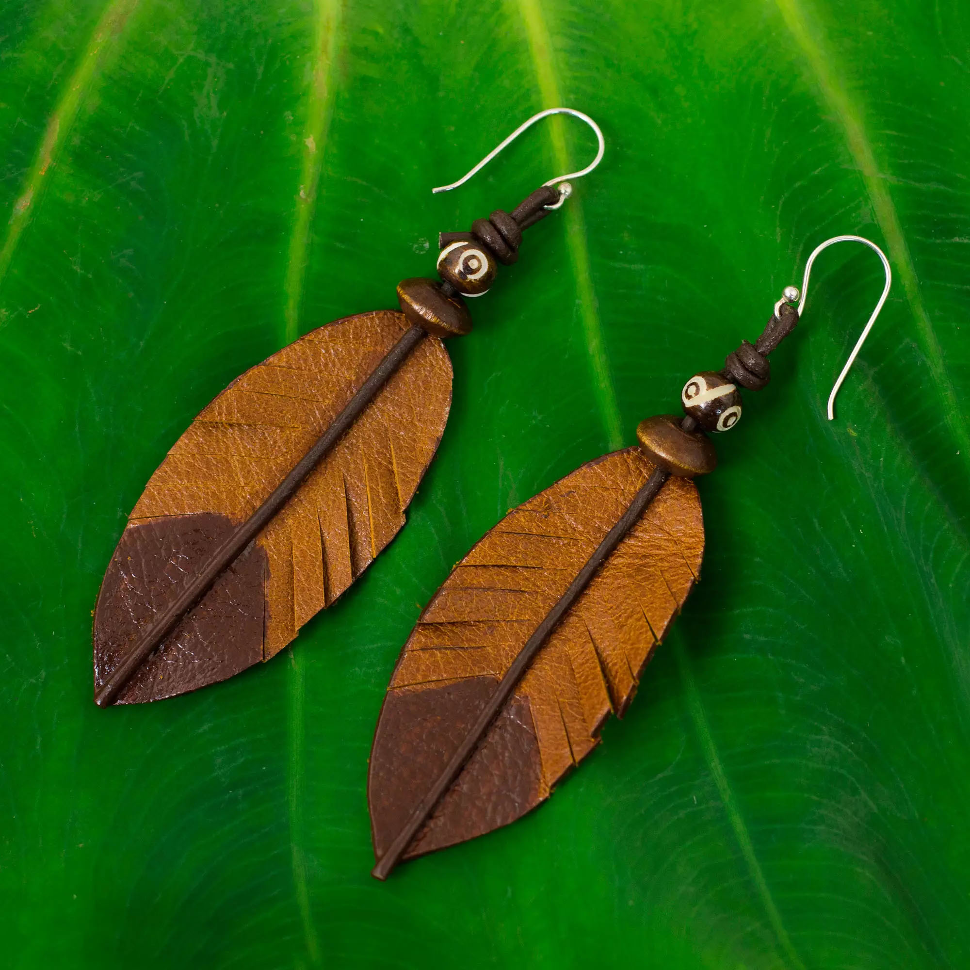 your and pairings necklace matching wood the blog feather crafted to right leather carving shaped indian bone earrings earring