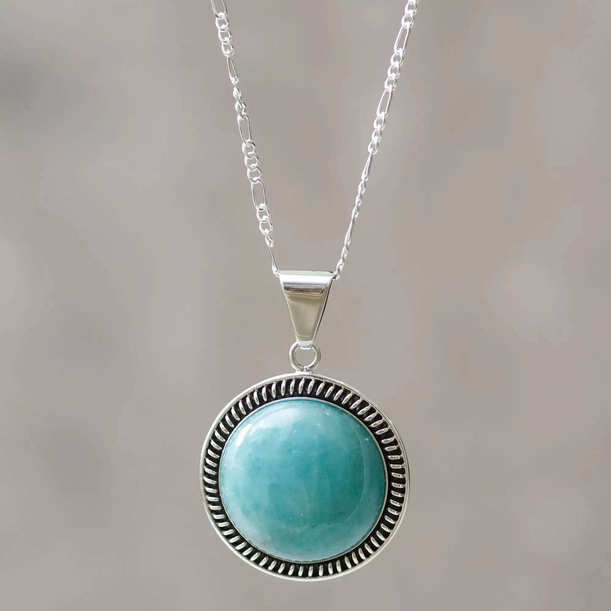 Ite And Sterling Silver Sea Moon Medallion Necklace Earring Pairings
